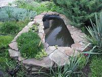 Старая ванна – декоративный водоем